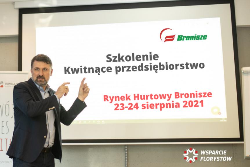 Zaproszenie na szkolenie Kwitnące przedsiębiorstwo - Rynek Hurtowy Bronisze